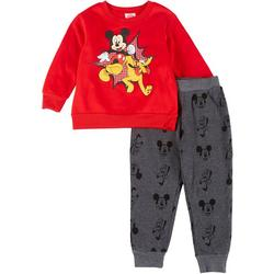 Baby Boys 2-Pc. Mickey Mouse Sweatpants Set