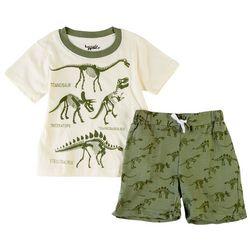Little Rebels Toddler Boys 2-pc. Dino Fossil Shorts Set