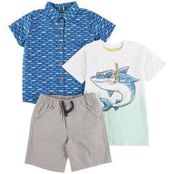 Nanette Toddler Boys 3-pc. Shark Woven Pant Set