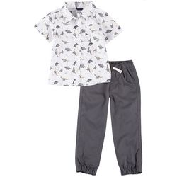 Little Rebels Toddler Boys 2-Pc. Dino Pants Set