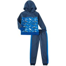 Little Rebels Toddler Boys 2-pc. Shark Jogger Set