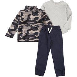 Little Rebels Toddler Boys 3-pc. Camo Pants Set