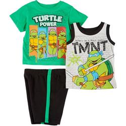 Baby Boys 3-pc. TMNT Short Set