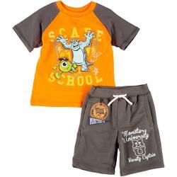 . Toddler Boys 2-pc. Scare University Short Set