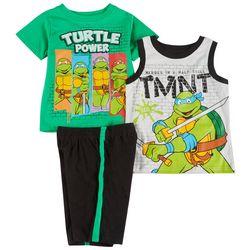 Nickelodeon Toddler Boys 3-pc. TMNT Short Set