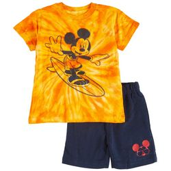 Mickey Mouse Toddler Boys 2-pc. Tie Dye Surfing Short Set