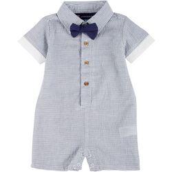 Andy & Evan Baby Boys Short Sleeve Seersucker Shirtall