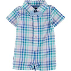 Andy & Evan Baby Boys Short Sleeve Gingham