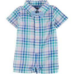 Baby Boys Short Sleeve Gingham Shirtall