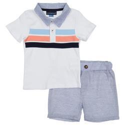 Baby Boys Pique Polo Set