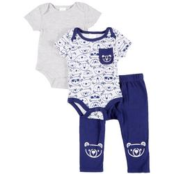 Baby Boys 3-Pc. Bear Set