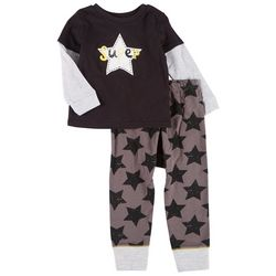 Little Beginnings Toddler Boys 2-pc. Super Star Pant Set