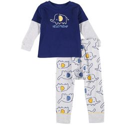 Little Beginnings Toddler Boys 2-Pc. Elephant Pants Set