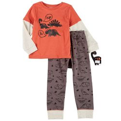 Little Beginnings Toddler Boys 2-pc. Dinosaur Pant Set