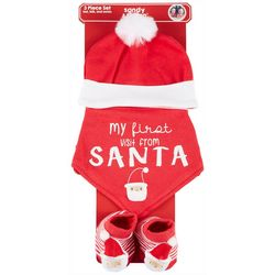 Sandy & Simon Baby 3-pk. My First Visit From Santa Set