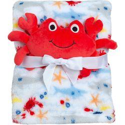 Baby Boys 2-pc. Crab Blanket Set