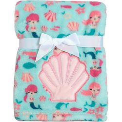 Baby Gear Baby Girls Shell Applique Blanket