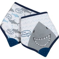 Baby Boys 2-pc. Shark Bandana Bib Set