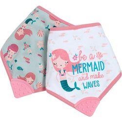 Baby Girls 2-pc. Mermaid Bandana Bib Set