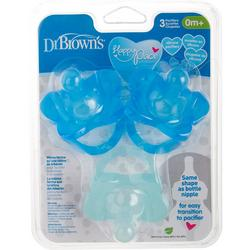 3-Pk. Baby Boy Happy Paci