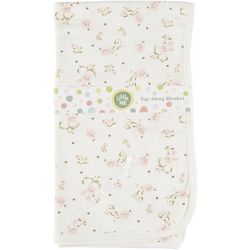 Little Me Baby Girls Floral Scroll Tag Along Blanket