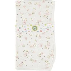 Baby Girls Floral Scroll Tag Along Blanket