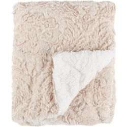 S.L. Home Fashions Chevron Faux Fur Baby Blanket