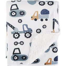 S.L. Home Fashions Construction Truck Baby Blanket