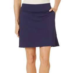Coral Bay Golf Petite Solid Skort With Ruffle Detail