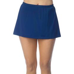 Maxine Of Hollywood Womens Solid Swim Skirt