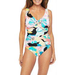 Maxine Womens Retro Floral Mio One Piece Swimsuit