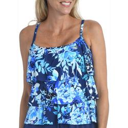 Maxine Womens Floral Tiered Tankini Swimsuit