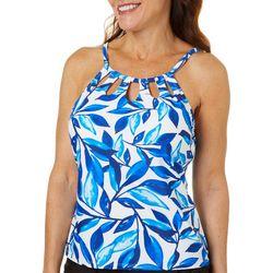 Ocean Avenue Womens Laila Cutout High Neck Tankini Top