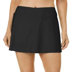 Ocean Avenue Womens Solid Swim Skort