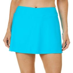 Womens Solid Swim Skort