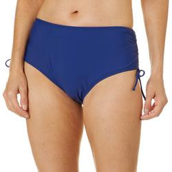 Womens Solid Adjustable Swim Bottoms
