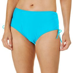 Womens Solid Adjustable Swim Bottoms