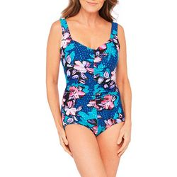 Maxine Womens April Flowers Girl Leg MIO Swimsuit