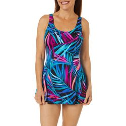 Maxine Womens Jungle Party Princess Seam Swimdress