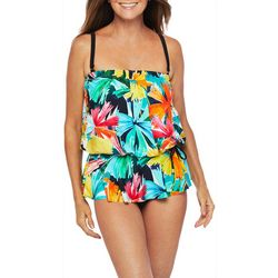 Maxine Womens Cocktail Peplum Mio One Piece Swimsuit