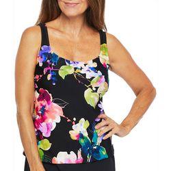 Maxine Of Hollywood Womens Camellia Tankini Top