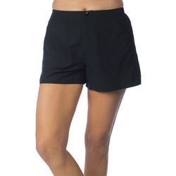 Maxine Of Hollywood Solid Woven Swim Boardshorts