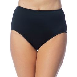 Maxine Of Hollywood Womens Solid Brief Swim Bottoms