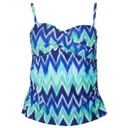 Ocean Avenue Womens Ikat Twist Front Tankini Top