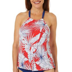 American Beach Womens Bungalow High Neck Tankini Top