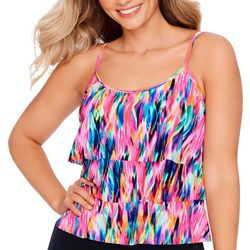 American Beach Womens Heliophilia Triple Tier Tankini Top