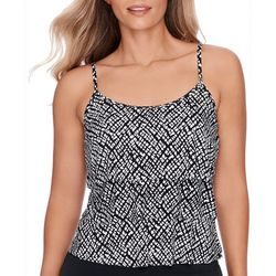 Womens Worldly Triple Tier Tankini Top