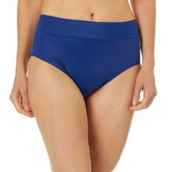Womens Solid Shaping Swim Briefs