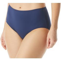 Womens Solid Shaping Swim Briefs