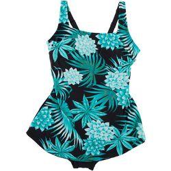 Gabar Womens Polka Dot Twist Front Swimdress